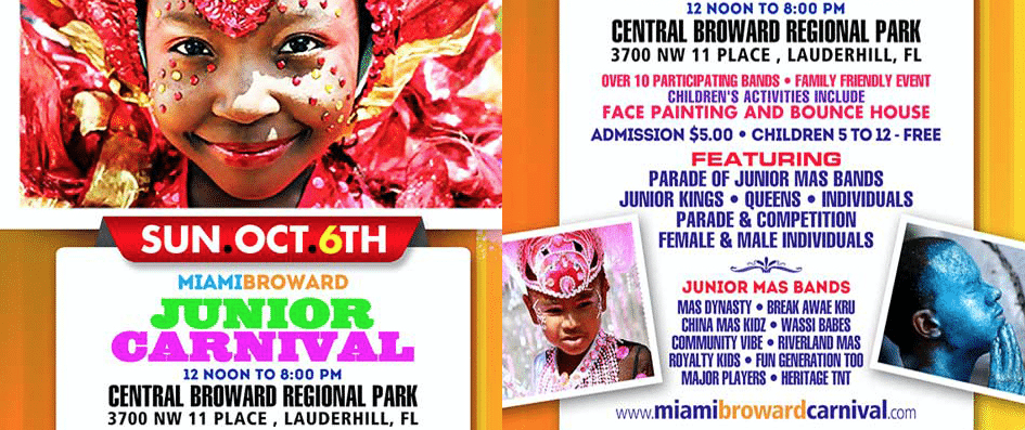 Jr. Carnival Sets the Stage For One of The Most Colorful and Festive Celebrations That Inspires Cultural Awareness Among Young People on Sunday, October 6, 2013