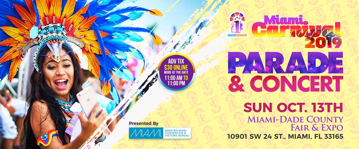 Miami Carnival Set For Sunday, October 13, 2019
